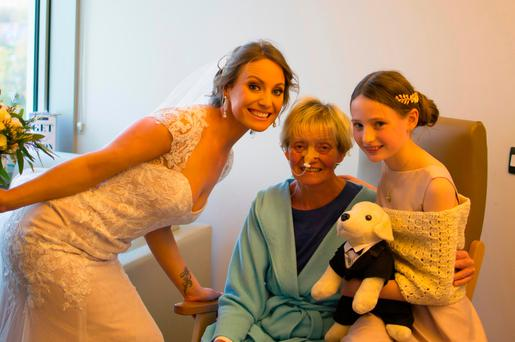 Lynne Cahill, her mother Catherine and daughter Ava. Photo;Sean Nolan