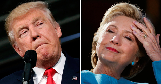 US voters will make their choice between Donald Trump and Hillary Clinton on Tuesday Photo: REUTERS/Mike Segar/Carlos Barria/Files