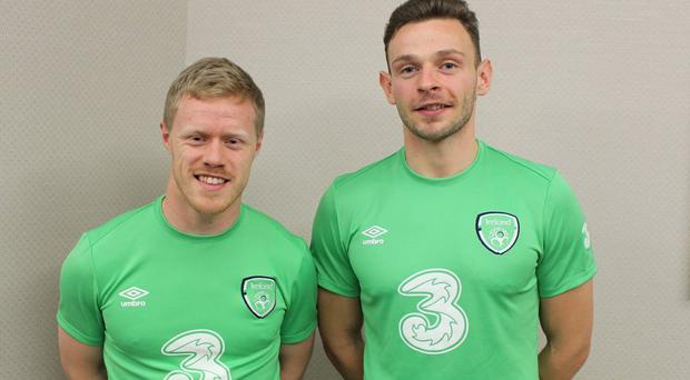 Daryl Horgan and Andy Boyle