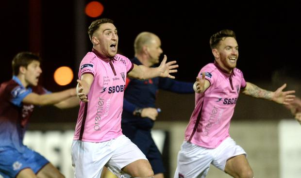 Recency bias can influence these things but the second half of Friday's promotion/relegation play-off between Drogheda United and Wexford Youths was utterly bonkers. Photo by Oliver McVeigh/Sportsfile