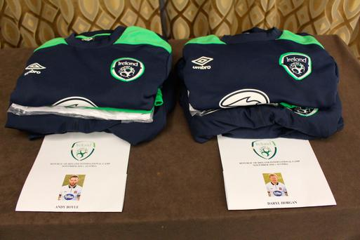 The FAI tweeted a picture yesterday afternoon captioned 'The kit is ready for the two new arrivals.. #COYBIG', suggesting that Dundalk duo Andy Boyle and Daryl Horgan would be retained in Martin O'Neill's squad. The news was confirmed later in the evening.