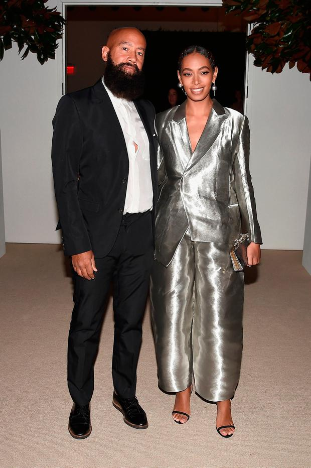 Alan Ferguson and Solange Knowles attend 13th Annual CFDA/Vogue Fashion Fund Awards at Spring Studios on November 7, 2016 in New York City. (Photo by Nicholas Hunt/Getty Images)