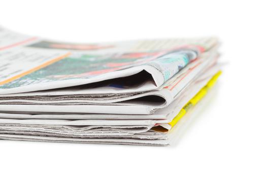 People may not buy as many as they did before the dawn of the technological age but they still rely on newspapers for the information they digest on other media platforms (Stock picture)
