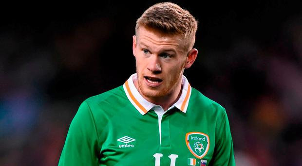 The Irish camp are now waiting on the results of a scan on a setback that McClean picked up while doing some fitness work at West Brom. Picture credit: Ramsey Cardy / SPORTSFILE