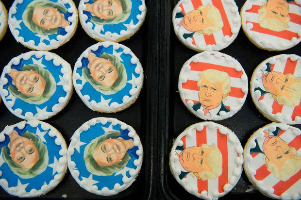 Donald Trump and Hillary Clinton cookies are on sale at the Oakmont Bakery in Oakmont, Pennsylvania Picture: Reuters