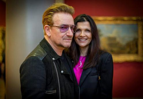 Bono and his wife Ali Hewson. Photo: Arthur Carron
