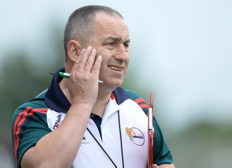 Carlow boss Turlough O'Brien is one of many managers from lower counties who fears that players will leave the inter-county game as they see the gap between the elite and the rest widening. Photo by Ray Lohan/Sportsfile