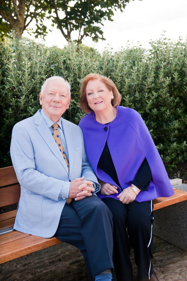 Gay Byrne and Kathleen Watkins for VIP Magazine. Picture: Lili Forberg/VIP Magazine