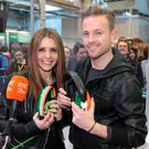 Jenny Greene and Nicky Byrne. Pictures Brian McEvoy