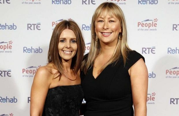 Jenny Greene and Kelly Keogh at the People of the Year Awards. Picture: Robbie Reynolds