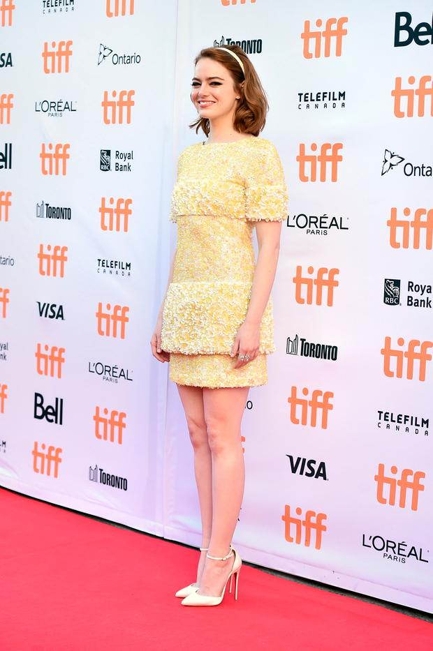 Sophisticated, retro, polished look: Actress Emma Stone