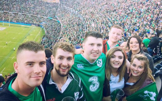 Paddy Sheehan and friends in Chicago for the Ireland New Zealand game