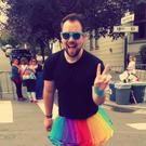 Padraig Joyce celebrating Gay Pride in San Francisco