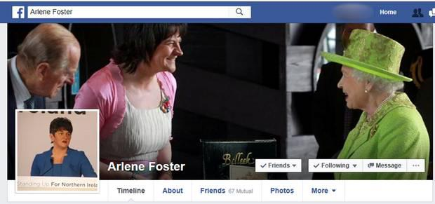 The fake Facebook page