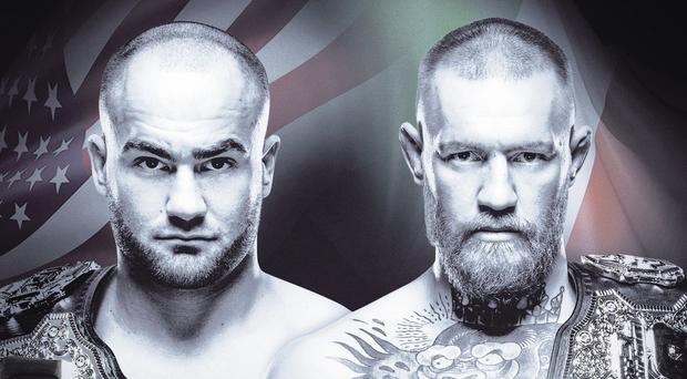 Conor McGregor will take on Eddie Alvarez (left) as part of the first UFC event in New York on Saturday night.