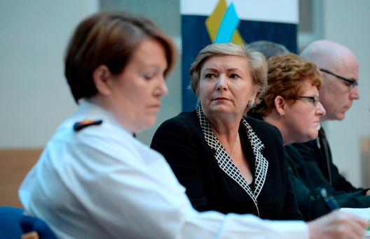 Tánaiste and Justice Minister Frances Fitzgerald with Garda Commissioner Nóirín O'Sullivan: 'Ministers have yet to engage on how the money can be found'. Picture: Caroline Quinn