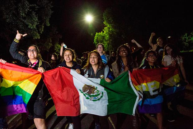 University of California, Davis students protest on campus in Davis, California, U.S. following the election of Donald Trump as President of the United States November 9, 2016. REUTERS/Max Whittaker/File Photo