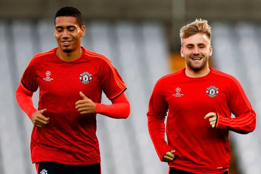 Chris Smalling and Luke Shaw were criticised by Jose Mourinho