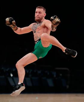 Conor McGregor in New York ahead of this weekend's fight