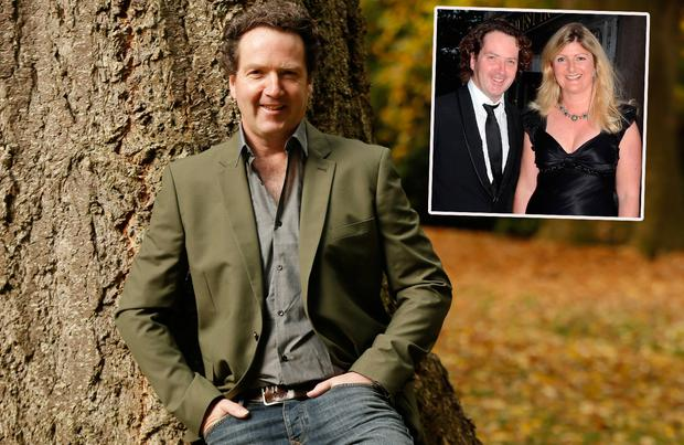 Diarmuid Gavin for VIP Magazine, inset, pictured with his wife Justine