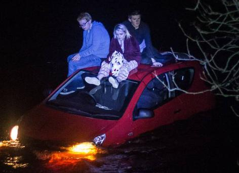 Three teenagers in Co Antrim have been praised for their quick thinking
