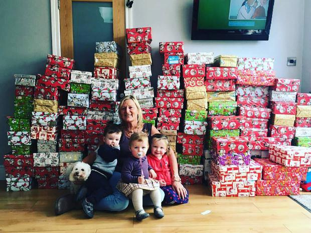 Christmas Shoebox.Irish Grandmother 57 Collects Over 150 Boxes For Christmas
