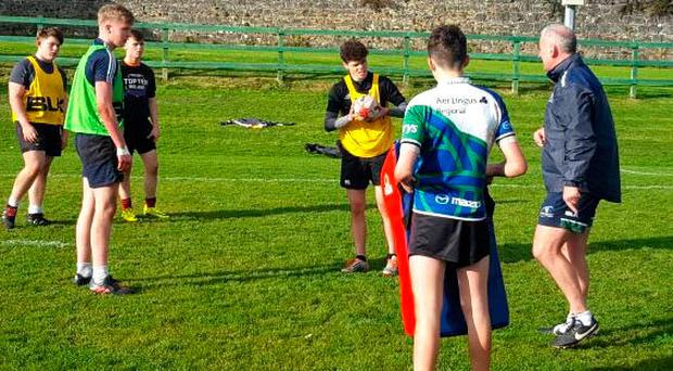 Connacht U-16s skills session