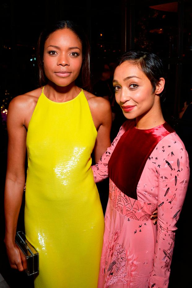 Naomie Harris (L) and Ruth Negga attend the Hollywood Foreign Press Association and InStyle celebrate the 2017 Golden Globe Award Season at Catch LA on November 10, 2016 in West Hollywood, California. (Photo by Matt Winkelmeyer/Getty Images)