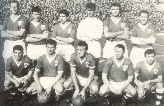 The Ireland team that took on Austria at Dalymount Park in 1963