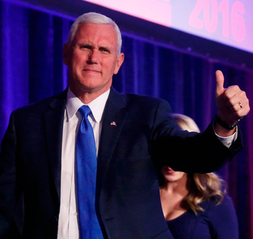 Vice-president-elect Pence. Photo: Reuters