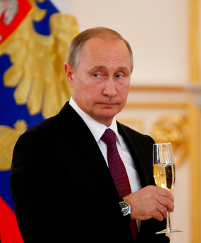 Russia's President Vladimir Putin was among the world leaders to welcome the election of Donald Trump. Photo: Reuters