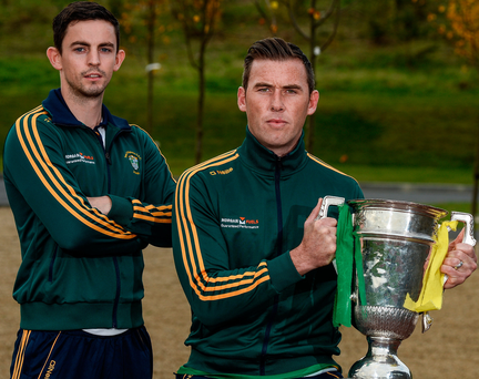 Barry O'Brien and Conor Crawley of Sean O'Mahonys at the Leinster club championship launch last month. Photo: Sportsfile