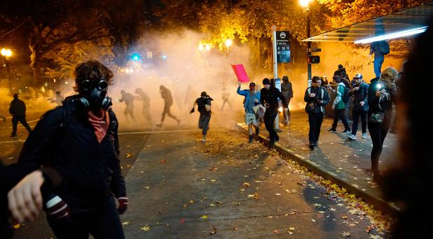 Gunfire erupts in OR as election protests continue