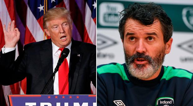 Donald Trump and Roy Keane