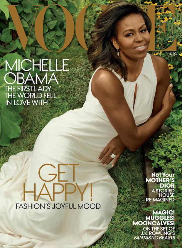 Michelle Obama features on December's issue of Vogue