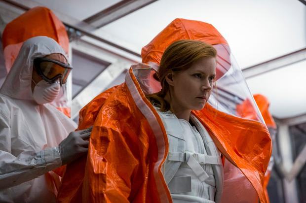 Amy Adams gets ready for a close encounter in Sci-Fi thriller Arrival