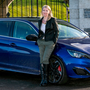 Distinctive: Geraldine Herbert with the 308 GTi Photo: Kyran O'Brien