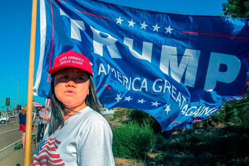 In, in, in: A Trump supporter celebrates after his victory Photo: Bill Wechter/Getty