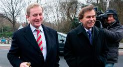 Political colleagues: Former justice minister Alan Shatter (right) pictured with Taoiseach Enda Kenny outside Leinster House in March 2011 Photo: Laura Hutton/RollingNews.ie