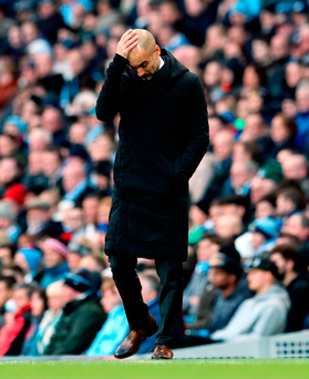 Pep Guardiola: 'I hear a lot about the intensity in the Premier League, when none of you have been in La Liga or the Bundesliga to know how intense it is' Photo: PA