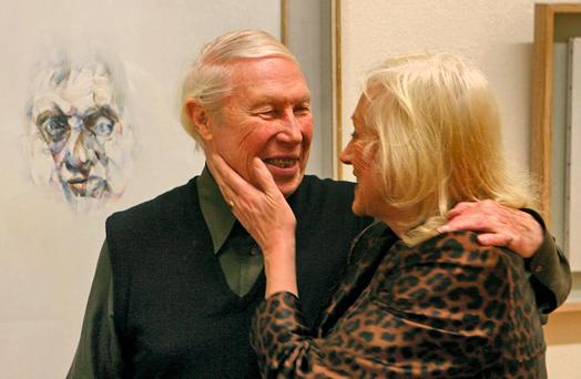 Artistic family: Louis le Brocquy and Anne Madden in 2006 Photo: Niall Carson/PA Wire