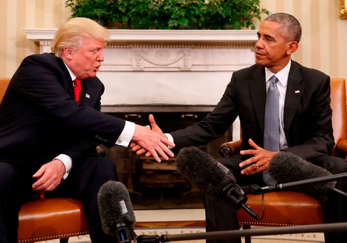 Donald Trump and Barack Obama held a meeting at the White House Photo: Pablo Martinez Monsivais/AP