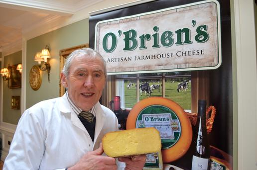 "Jim O'Brien of O'Brien's Artisan Farmhouse Cheese based in Limerick has won the ""2016 Listowel Food Fair National Kerrygold Cheese Competition"