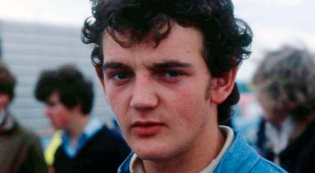Former Formula One Tommy Byrne, pictured in 1978, was ready to take on the world in the 1980s