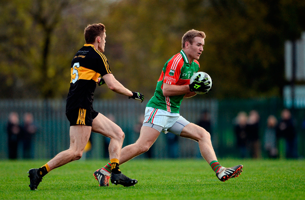 Noel McGrath of Loughmore Castleiney in action against Gavin White of Dr Crokes. Photo by Diarmuid Greene/Sportsfile