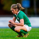 A dejected Alison Miller after Ireland Women's Autumn International defeat to England. Photo by Eóin Noonan/Sportsfile
