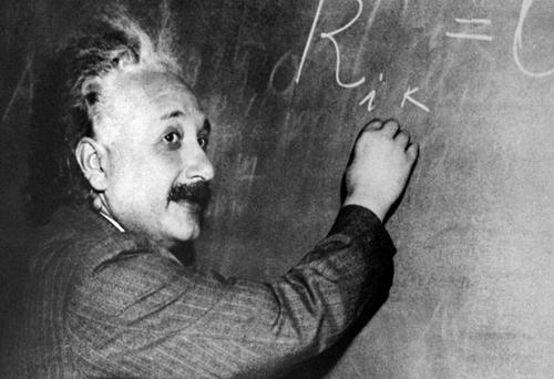 It is well known that Albert Einstein was slow to learn how to speak. Photo credit should read -/AFP/Getty Images