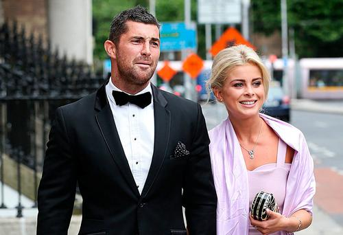 Mr Kearney pictured with his girlfriend Jess Redden. Photo: Steve Humphreys
