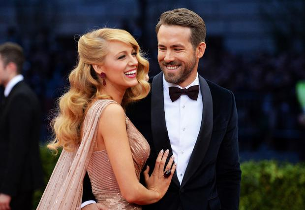 Blake Lively and Ryan Reynolds. (Photo by Mike Coppola/Getty Images)