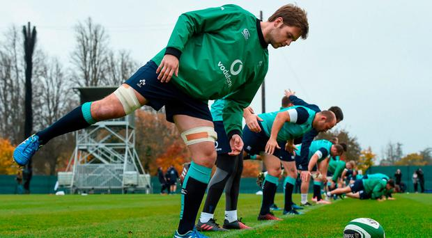 Iain Henderson could form part of Joe Schmidt's plans for Saturday's game against New Zealand having returned from injury. Photo: MATT BROWNE/SPORTSFILE
